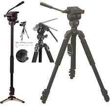 Professional 67-inch Video Camera Tripod & Monopod with Fluid Drag Head