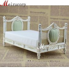 dollhouse fine 1:12 scale miniature furniture grand painted European style bed