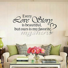 Quote Home Decor Love Story Mural Removable Decal Room Wall Sticker Vinyl Art