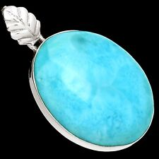15g Larimar - Dominican Republic 925 Sterling Silver Pendant Jewelry SP200763