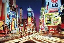 NEW YORK POSTER NEW YORK TIMES SQUARE BEI NACHT
