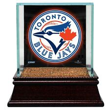 Toronto Blue Jays Glass Baseball Display Case With Game Used Field Dirt Steiner