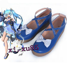 2017 Vocaloid Snow Miku Twinkle Snow Ver. Star and Snow Princes Shoes Cosplay