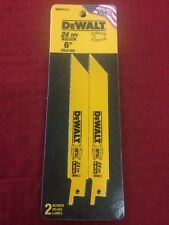"DEWALT DW4813 6"" 24 TPI Straight Back Bi-Metal Reciprocating Blade 2 Pack"