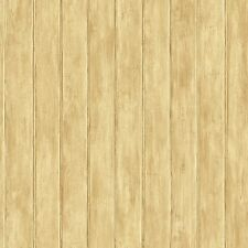 Light Brown Untextured Faux Beadboard Sure Strip Wallpaper YC3410