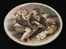 "Coalport Bone China - 7 3/4"" Collectors plate - Boys and dog having lunch"
