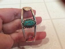 fine hand crafted sterling silver turquoise cuff bracelet