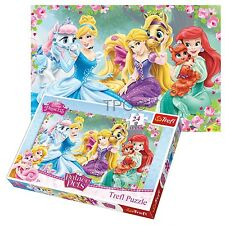 Trefl 24 Piece Maxi Kids Girls Disney Princesses Large Pieces Jigsaw Puzzle NEW