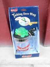 1996 NRFB BUDWEISER TALKING BEER MUG KING OF BEERS ANHEUSER-BUSCH (NBS9)