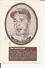 Autographed Joe Dimaggio New York Yankees Post Card  - JSA Full Letter