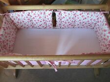 Cushi cots swing crib bumper girls twin pack/ full wrap rose and sweet pink new