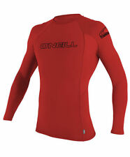 "Oneill Men's L/S Rashguard ""Basic Skins"" RED - Medium - NWT"