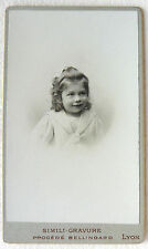 CDV NOMMÉ PHOTO PIERRE RUBY ENFANT PHOTO BELLINGARD LYON L880