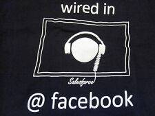 FACEBOOK Employee T-SHIRT Blue logo Salesforce Wired SM Small Campus Jobs Career