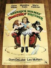 SHERLOCK HOLMES Original Movie Poster GENE WILDER MARTY FELDMAN MADELINE KAHN