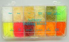 SLF SALTWATER Dubbing Blend 12 Farben Dispender Glanz translucent SALTWATER SLF