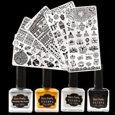 9pcs/set Christmas XMAS Nail Art Stamp Plates Kit Classic Color Stamping Polish