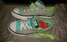 BNIB Converse CTAS Double Tongue Ox Junior Plimsolls Green/Grey, UK 1(EUR 33)