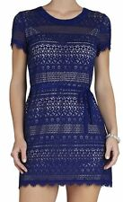 "BCBG NWT ""Darlita"" Blue Lace Cocktail Party Dress New 8P  VFX6Z553"