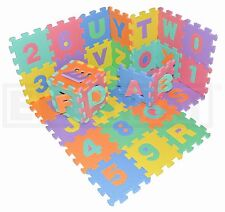 EVERMAT 36pcs EVA Foam Alphabet Mat 1.02sqm / 11sqft Jigsaw Playmat ABC 123
