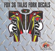 Fox 36  FORK Talas Stickers Decals Graphics Mountain Bike Down Hill MTB red