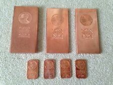 Collection of .999 pure Copper Bullion, Bars, Ingots - See Description!