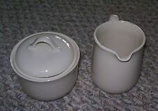 CORNING CORELLE SANDSTONE BEIGE CREAMER & COVERED SUGAR BOWL