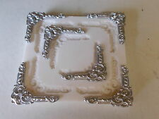 Ornate corners Rubber Mould Makes 6 corners per time  chocolate plaster wax