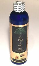 EMU OIL + 24 K GOLD INFUSED ORGANIC 4 OZ TRIPLE REFINED NATURAL PURE SKIN HEALTH