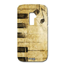 CUSTODIA COVER CASE TASTIERA NOTE MUSICA PIANOFORTE PER LG OPTIMUS G2 MINI D620