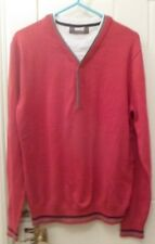 "NEW BURTONS MENS RED SWEATER WITH T SHIRT INSERT SIZE SMALL (35"" - 36"")"