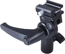Universal Metall Blitzhalter Blitzneiger Schirmhalter für Canon Olympus Blitz