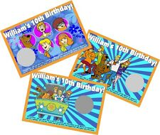 SCOOBY DOO PERSONLIZED SCRATCH OFF OFFS PARTY GAME GAMES CARDS BIRTHDAY FAVORS