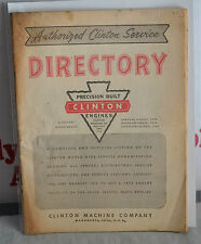 VTG 1954 Authorized Clinton Service Directory Precision Engines Machine Co. N