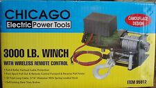 Chicago Electric 3000lbs 12V Electric Recovery Winch ATV,UTV Wireless Remote ~