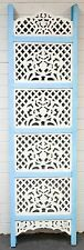 Vintage Indian Shabby Chic Hand Carved Timber Room Divider Screen