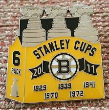BOSTON BRUINS STANLEY CUP CHAMPIONS 6 PACK Lapel Pin