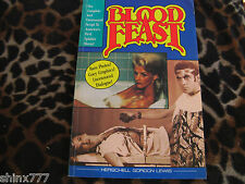 'BLOOD FEAST' BOOK WITH AUTOGRAPH OF WRITER HERSCHELL GORDON LEWIS