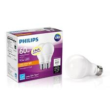 2 pack LED Phillips 9.5 watt = 60 W Soft White A19 Dimmable Household Light Bulb