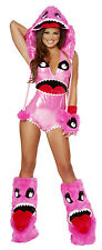 NEW! J VALENTINE COMPLETE PINK MONSTER L Sexy Women's Furry Costume USA JJ178