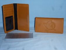 "OTTAWA SENATORS   ""glove""  Leather Checkbook  NEW  tan"
