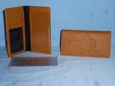 "OTTAWA SENATORS   ""glove""  Leather Checkbook  NEW  tan"