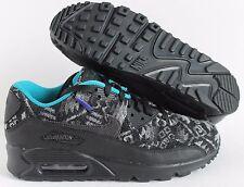 Nike Air Max 90 Premium Pendelton ID Black-White-Turquoise  SZ 8.5  [838675-901]