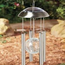 Solar Powered Hanging Wind Chimes Colour Changing LED Light Garden Windchimes
