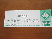 JOHN MARTYN - CAMBRIDGE CORN EXCHANGE UK 22.6.2001 USED CONCERT TICKET