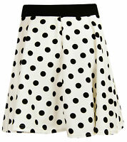 E28 NEW WOMENS LADIES PRINT ELASTICATED WAIST FLARE SKATER MINI SKIRT SIZE 8-14