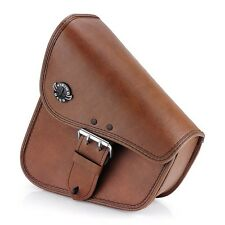 Harley Davidson Softail Brown Left Side Swing Arm Luggage Bag