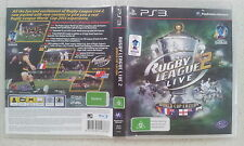 rugby league live 2 world cup edition ps3