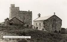 St Cuthbert's Church Castle Farne Islands RP old pc used probably 1920's Monarch