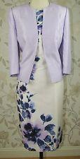 RRP £ 318 BNWT Jacques Vert Madre De Novia Con Estampado Floral Vestido Y Chaqueta Talla 18
